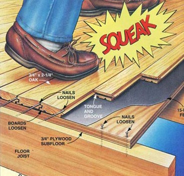 Squeaky floors? You don't have to live with those annoying squeaks under your carpeting.