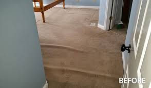 carpet restretching for buckled carpeting