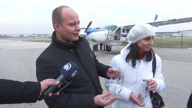 THK uçağı sokak hayvanları için havalandı (Tüm TV haberleri)