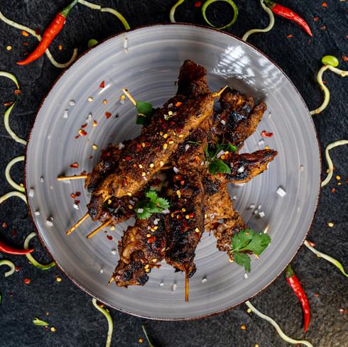 Chicken Skewers for Stir fry