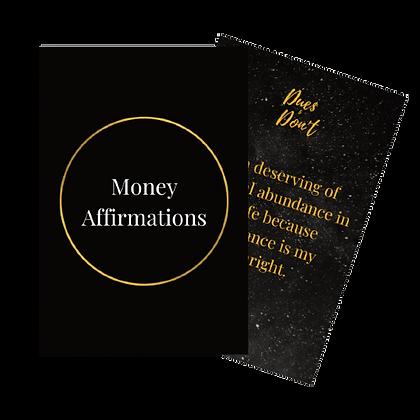 Money Affirmation Cards