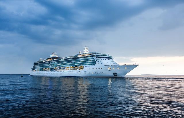 cruise ship sailing away
