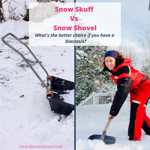 shoveling snow verses a snow scuff