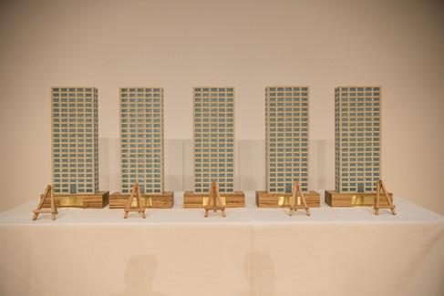 Die Siegertrophäen gestaltet vom österreichischen Künstler Hans Weigand