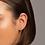 Thumbnail: Brinco Rommanel meia argola flor folheado a ouro - 5265030000
