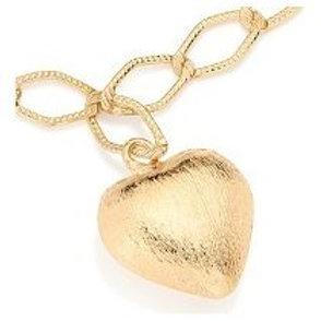 Pulseira Rommanel folheada a ouro com coração - tam.20