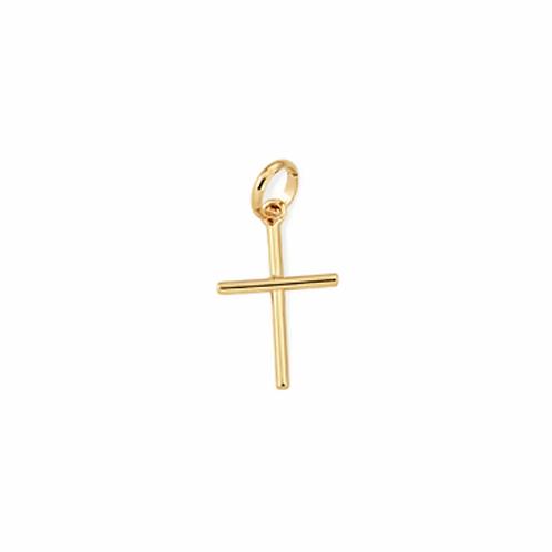 Pingente Rommanel folheado a ouro cruz - tam.único 5400010000