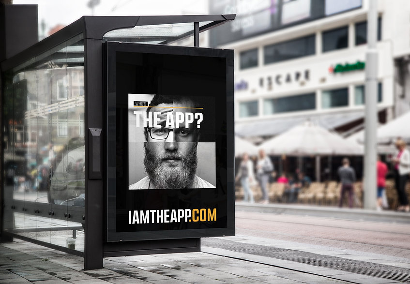 I am the app bus stop poster