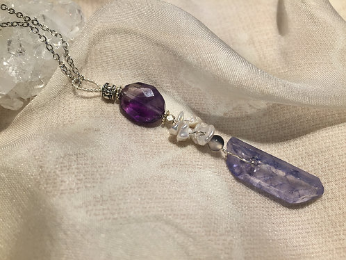 Amethyst, Quartz, Pearl / sold