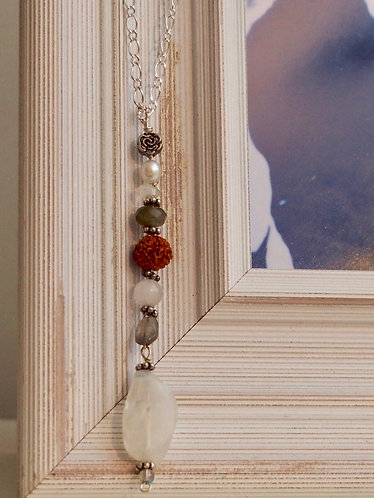 Moonstone, Labradorite,Pearl, Rudraksha