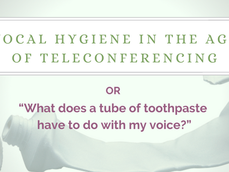 Vocal Hygiene in the Age of Teleconferencing