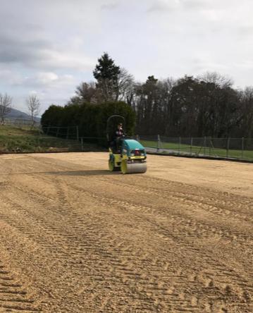 Stabilisation couche intermédiaire avant nouveau sable