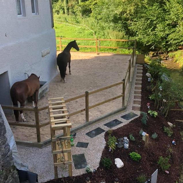 La terrasse des chevaux du patron