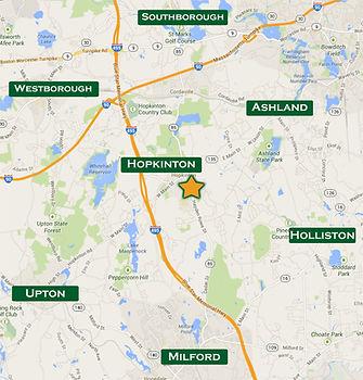 Map Hayden Rowe Business Center, Hopkinton MA