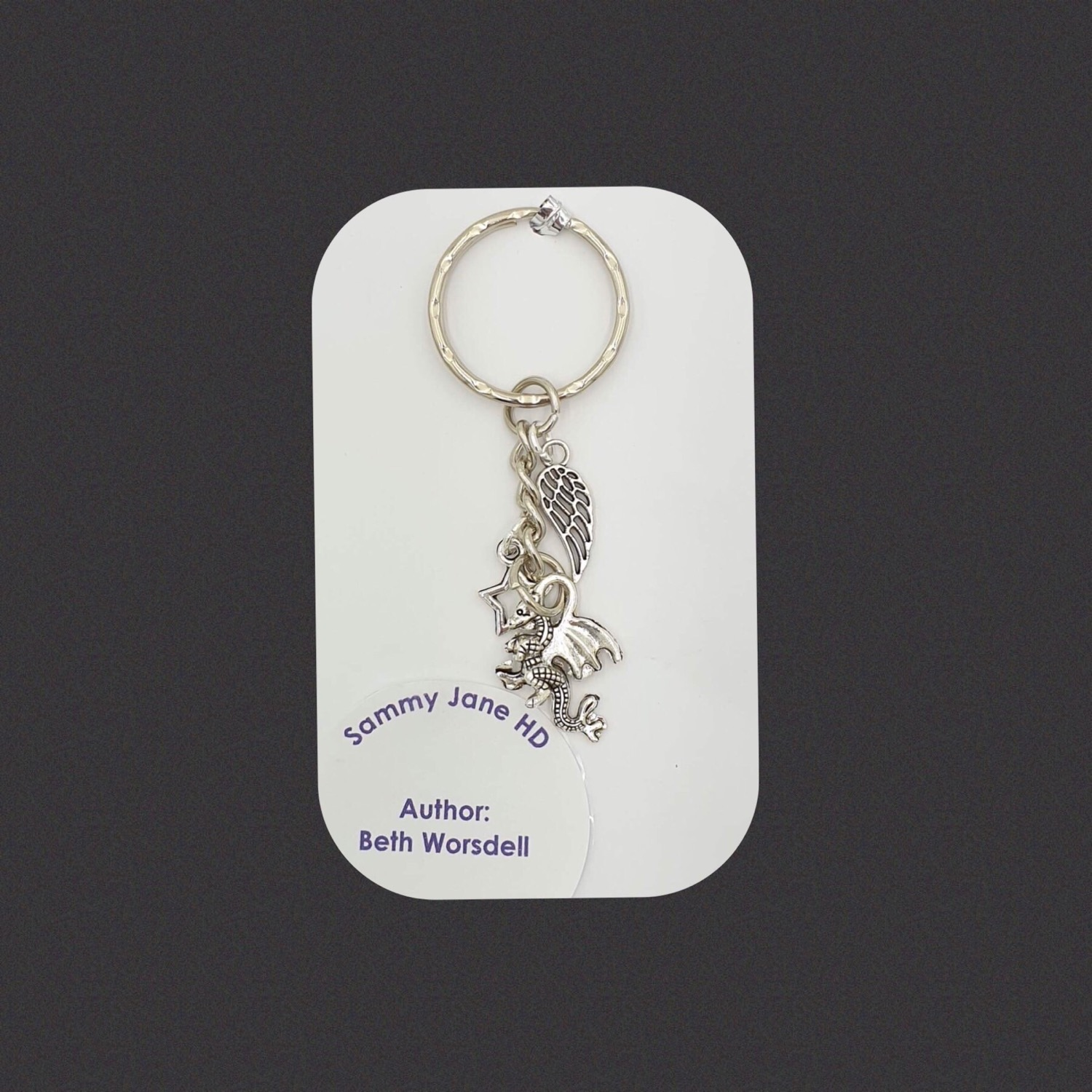 Angel wing and Dragon keyring