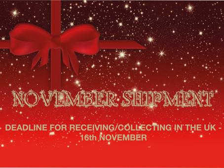 November shipment