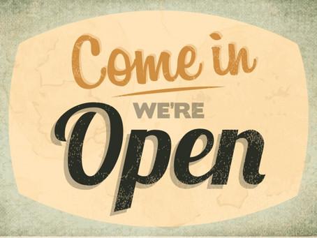 Reopening!