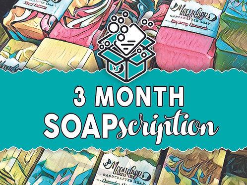3 month SOAPscription