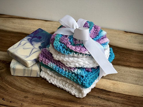 CROCHETED WASHCLOTHES & SCRUBBIES