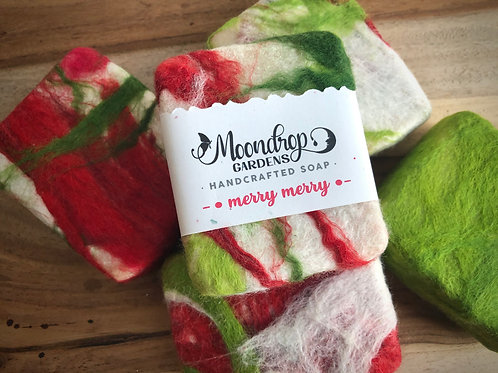 FELTED MERRY MERRY SOAP