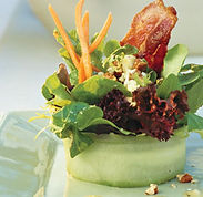 microgreens as a salad addition
