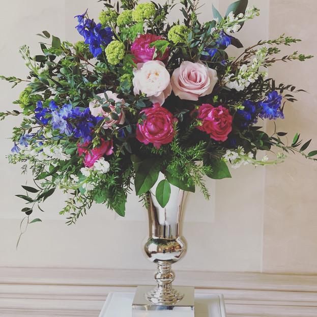 Large urn ceremony flowers