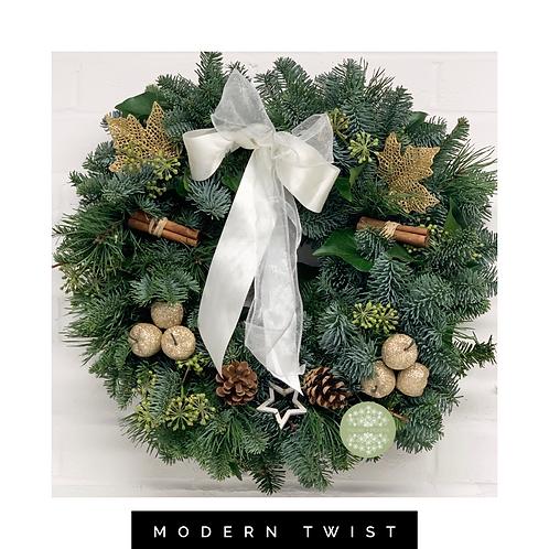 Christmas Door Wreath 'Modern Twist' Option 2