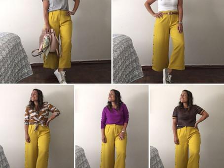 Un pantalón mostaza, ¡5 looks!