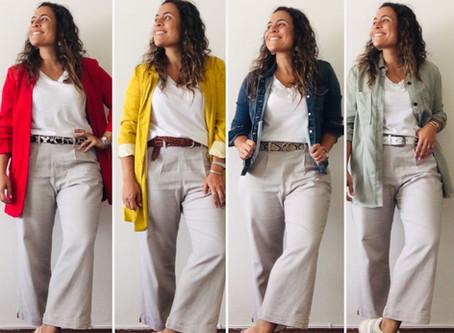 Un pantalón de lino, cuatro looks