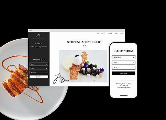 WIX RESTAURANT(饭店网站和网上订餐)