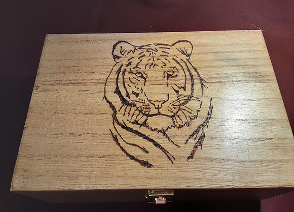 Tiger box handcrafted by grandad