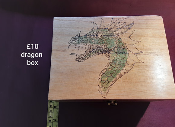 Handcrafted dragon box by grandad