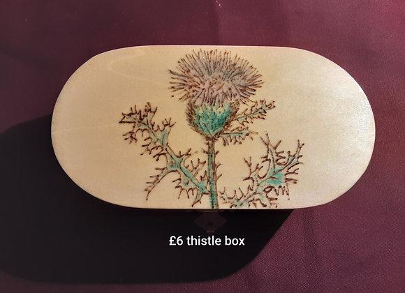 Thistle oval box