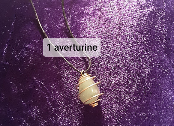 Caged gemstone lumps  necklace please click image for more options 💜