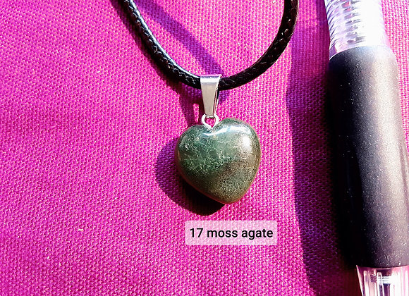 Gemstone heart necklaces please click on image for more choices