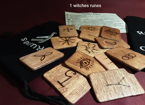 Witches runes handcrafted by grandad
