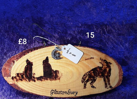 A selection of wooden plaques by grandad please click on image to see more