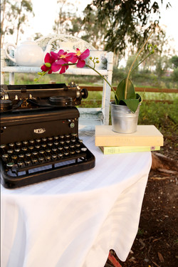 Vintage Type Writter and Books