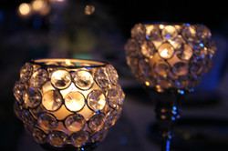 Crystal Effect Candle Holders