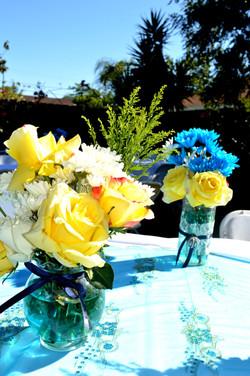 Backyard Pool Reception Floral Work