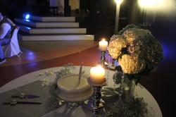 Single Tier Wedding Cake