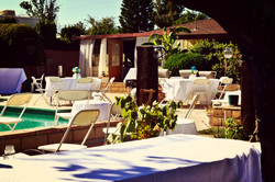 Back Yard Pool Reception