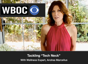 """Today, we tackle the idea of what is called """"Tech Neck"""" with Wellness expert Andrea Marcellus"""