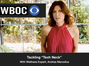 "Today, we tackle the idea of what is called ""Tech Neck"" with Wellness expert Andrea Marcellus"