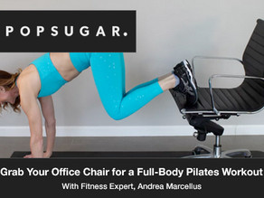 Take a 10-Minute Break and Grab Your Office Chair For This Full-Body Pilates Workout