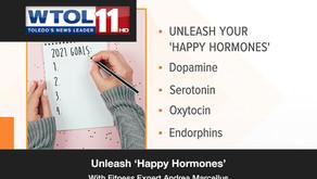Fitness expert Andrea Marcellus explains how to unleash 'happy hormones'.