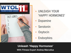 Fitness expert Andrea Marcellus explains how to unleash 'happy hormones'.