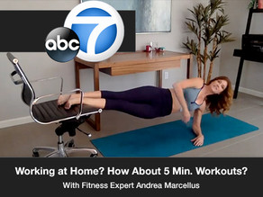 Working at Home? How About 5 Minute Workouts Here & There?