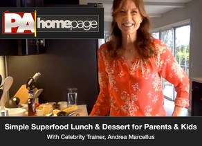 Simple Superfood Lunch & Dessert for Parents and Kids to Make Together