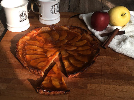 Crostata di ceci, mele e cannella
